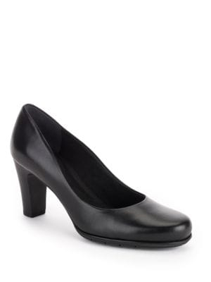 Total Motion Leather Mid-Heel Pumps by Rockport