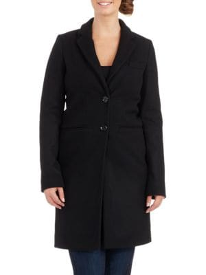 Double Button Reefer Walker Coat by Planet London