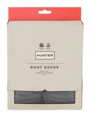 Buy Ribbed-Cuff Fleece Welly Socks by Hunter online