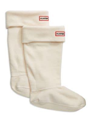 Fleece Cuffed Welly Socks by Hunter
