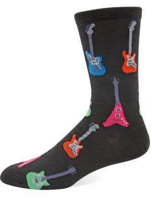 Guitar Knit Socks by Hot Sox