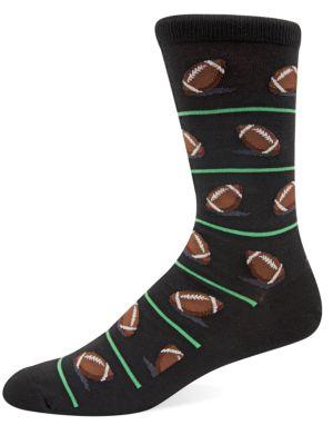 Football Knit Socks by Hot Sox