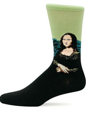 Mona Lisa Knit Socks by Hot Sox