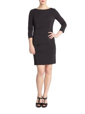 Nelson Paneled Shift Dress by Tahari Arthur S. Levine