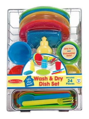 24 Piece Wash and Dry Dish Set