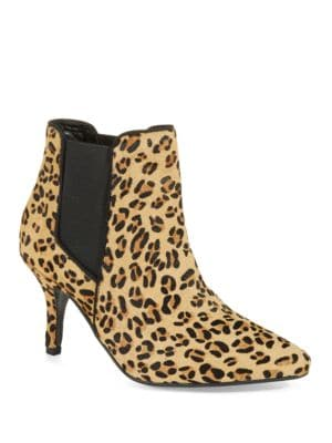 Scamp Leopard-Print Calf Hair Ankle Boots by Kg Kurt Geiger
