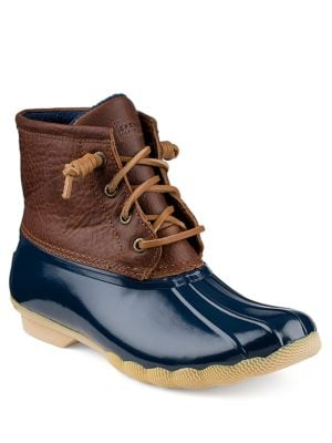 Saltwater Leather Booties by Sperry