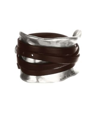 Leather Strap Accented Cuff Bracelet 500076519669