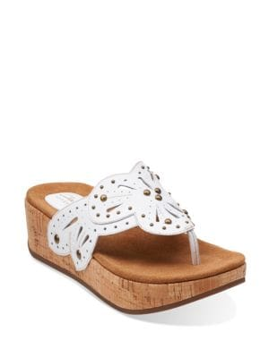 Palima Palm Leather Thong Sandals by Clarks