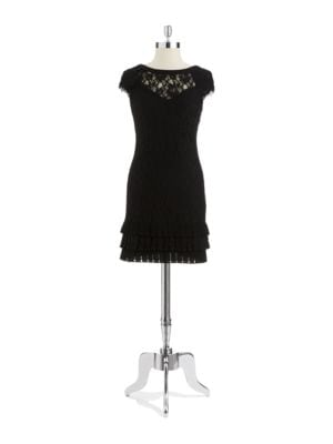 Lace Drop Back Dress by Jessica Simpson