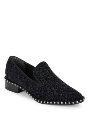 Prince Suede Studded Loafers by Adrianna Papell