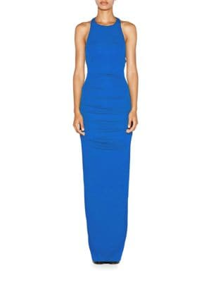 Adel Matte Jersey Crossback Maxi Dress by Nicole Miller