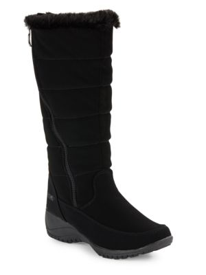 Buy Abby Faux Fur-Accented Mid-Calf Boots by Khombu online