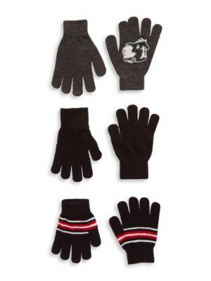 ThreePiece Knit Gloves