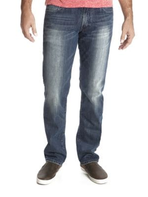 221 Original Straight Blue Gold Wash Jeans by Lucky Brand