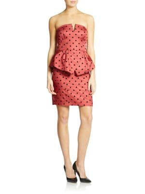 Strapless Peplum Dress by Ali Ro