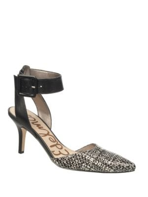 Okala Leather Ankle Strap Pumps by Sam Edelman