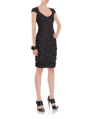 Theia Petal Sheath Dress by Theia