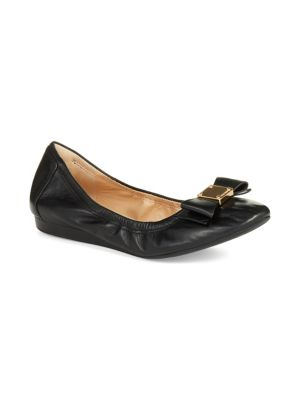 Tali Bow Leather Flats by Cole Haan