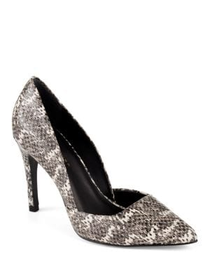Hollywood Snakeskin Pumps by Trina Turk