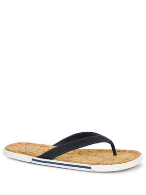 Bennison II Leather and Cork Thong Sandals by UGG