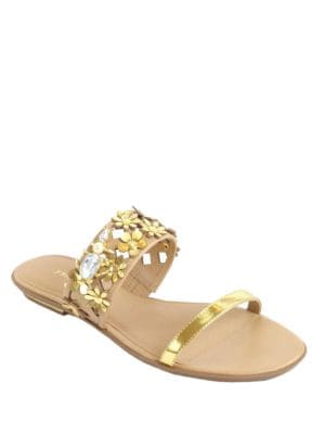 Bloom Slide Leather Sandals by Kate Spade New York