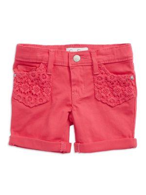 Crocheted Denim Shorts...