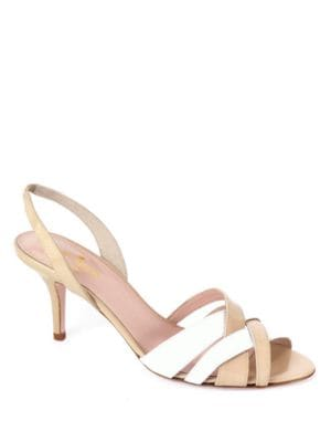 Sasha Leather Kitten Heel Sandals by Kate Spade New York