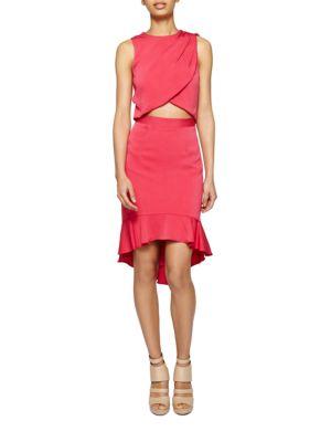 Wrap-Front Cutout Dress by Nicole Miller