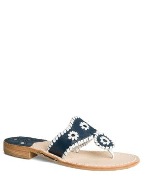 Palm Whipsticthed Beach Sandal by Jack Rogers