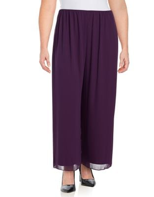 Plus Chiffon Pants by Alex Evenings