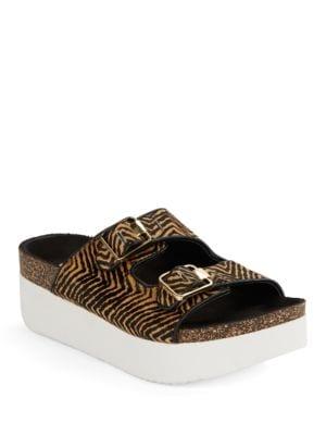 Petra Zebra-Print Calf Hair Platform Sandals by Circus by Sam Edelman