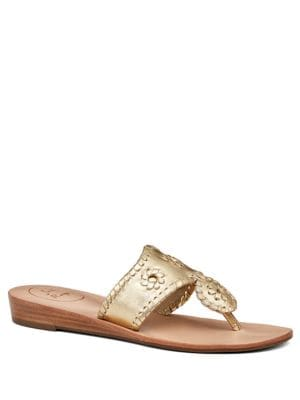 Capri Leather Mid-Wedge Sandals by Jack Rogers