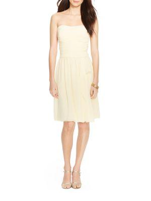 Strapless Georgette Dress by Lauren Ralph Lauren