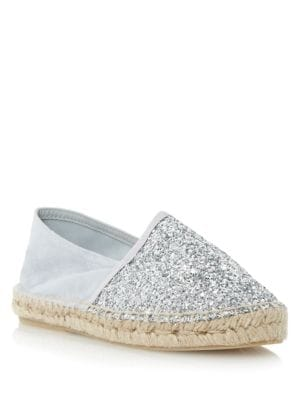 Glitta Fabric Flats by Dune London