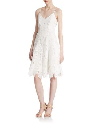 Embroidered Lace Tank Dress by Vera Wang