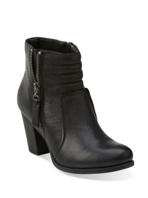 Palma Trina Leather Ankle Boots by Clarks
