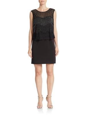 Beaded Blouson Dress by Decode 1.8