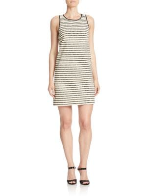 Striped Slim Shift Dress by 4.collective