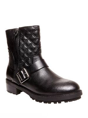 Rivalree Quilted Leather Mid-Calf Boots by Steve Madden