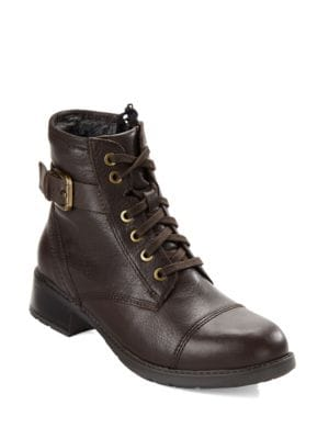 Buy Swansea Ledge Faux Fur-Lined Ankle Boots by Clarks online