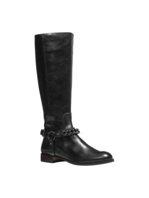 Mabel Leather Riding Boots by COACH