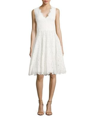 Scarlet Lace A-Line Dress by Vera Wang