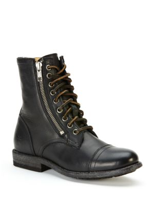 Tyler Cap Toe Leather Boots by Frye