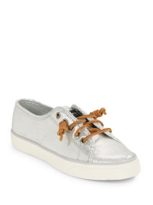 Seacoast Embossed Leather Sneakers by Sperry