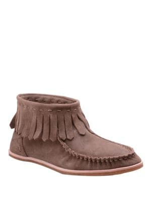 Bennie Suede Moccasin Ankle Boots by Splendid
