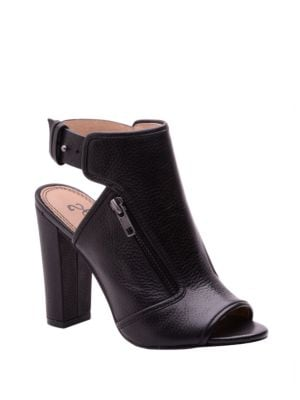 Janet Open-Toe Leather Ankle Booties by Splendid
