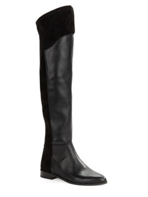 Nalay Leather Over the Knee Boots by 424 Fifth