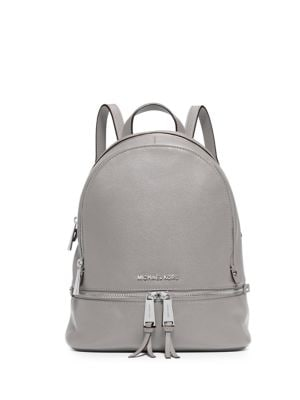 Rhea Zip Leather Backpack 500084337773