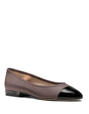 Sabrina Cap Toe Leather Flats by MICHAEL MICHAEL KORS